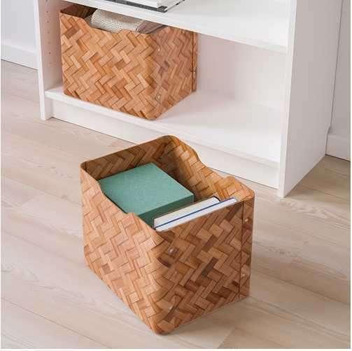 Caja decorativa bambú marrón 25x32x25 cm Bullig 2204 - 1