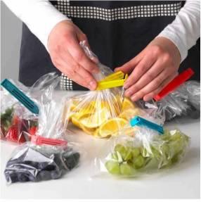 Juego de pinzas para bolsas 30 unidades colores variados