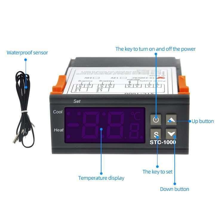 Termostato digital con sonda STC-1000 para incubadora - 3