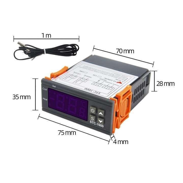 Termostato digital con sonda STC-1000 para incubadora - 5