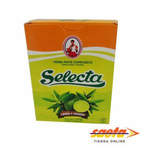 Yerba mate Selecta compuesta Limón y Cedrón 250 gramos