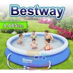 Piscina borde inflable Bestway 6665 litros con filtro 57263