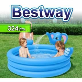 Piscina Infantil 324 lts Bestway Elefante 53048 + Inflador