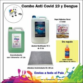 Combo desinfectante anti Covid-19 y Dengue