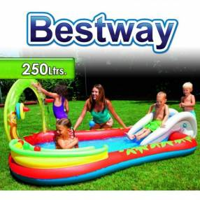 Piscina Infantil 250 lts Bestway Animales 53051 + Inflador