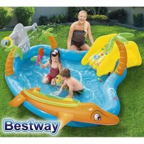 Piscina Infantil 273 lts Bestway Vida Marina 53067 +inflador