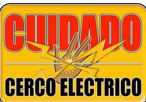 Advertencia para cerca eléctrica