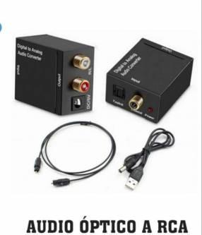 Audio óptico a RCA. Delivery gratuito gran Asunción