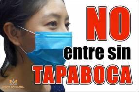 Calcomanía No Entre Sin Tapaboca