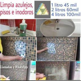 Limpiador de azulejos pisos e inodoros