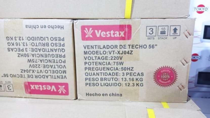 Ventilador Vestax con luces Led. - 2
