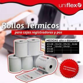 Rollos de papel térmico para cajas registradoras y pos