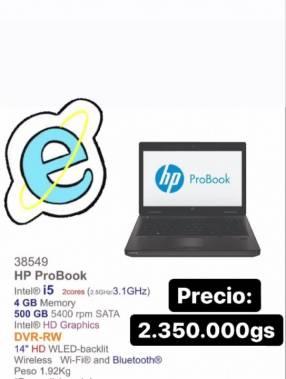 Notebook hp probook i5