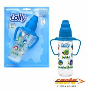Mamadera Zoo 240ml Lolly azul con manija