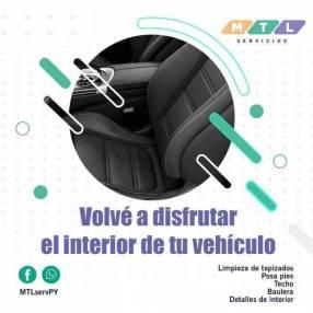 Servicio de limpieza de tapizados de vehículo