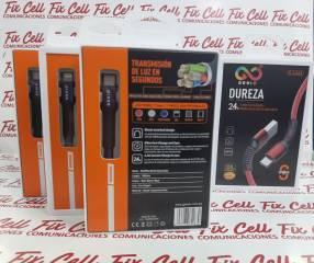 Cables Dureza para micro usb lightning y tipo C