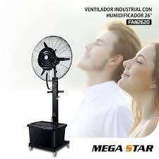 Ventilador industrial con humidificador Mega Star 26 pulgadas - 0