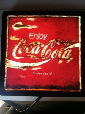 Cuadro vintage coca cola lumínico ️30x30