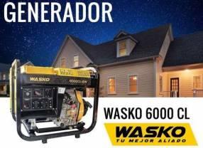 Generador de Corriente Wasko 230V 5000W Diesel Abierto
