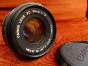 Lente Canon (FD) 50mm F:1.8 Manual