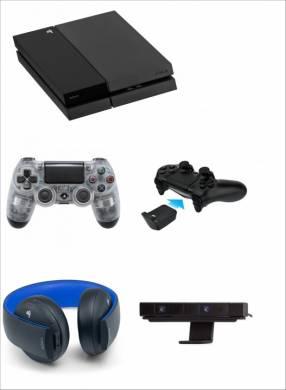 PS4 + 2 controles + auricular Sony Gold + cámara + 3 juegos