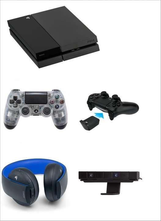 PS4 + 2 controles + auricular Sony Gold + cámara + 3 juegos - 0