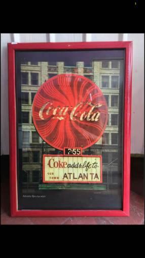 Cuadro decorativo vintage coca cola.