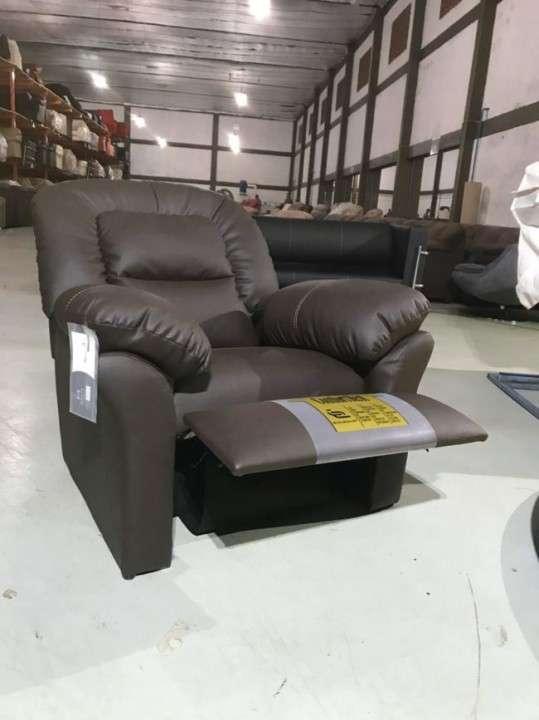 Sofa reclinable poltrona ecoleather marron (745) - 1