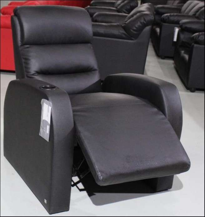 Sofa poltrona ecoleather negro (2377) - 0