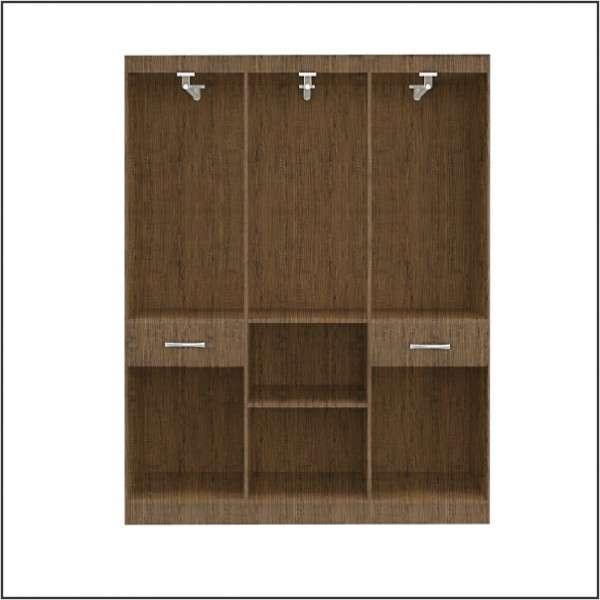 Ropero de 8 puertas color marrón - 1