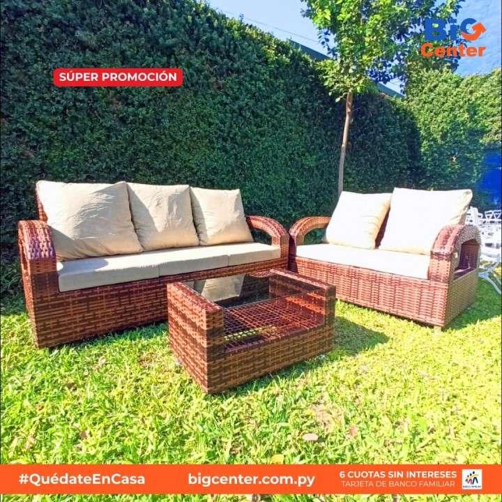 Juego de jardin tipo sofa maria simil ratan (3365) - 0