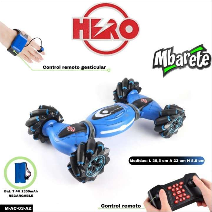 Auto Hero Mbarete con control remoto gesticular - 0
