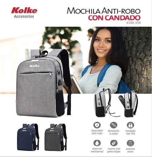 Mochila Kolke Antirrobo con candado - 0