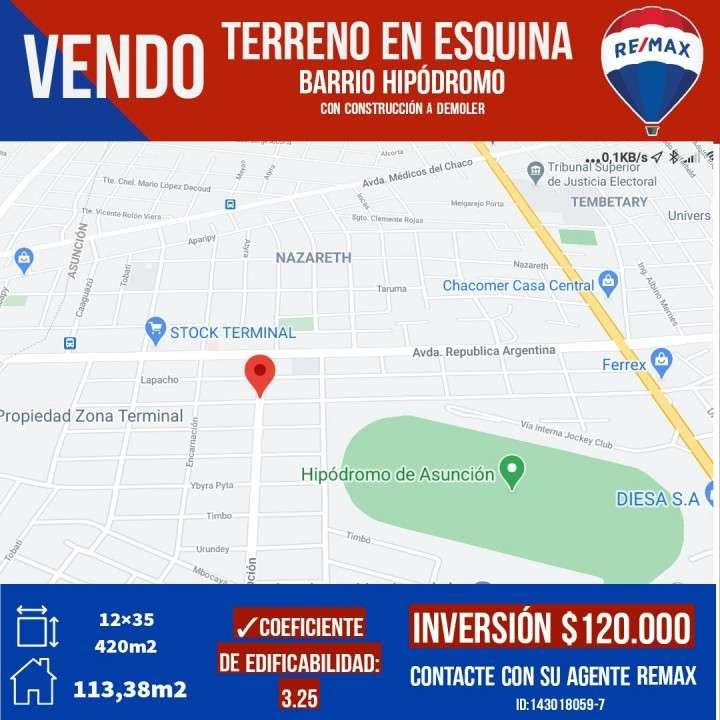 Terreno en Barrio Hipódromo - 0