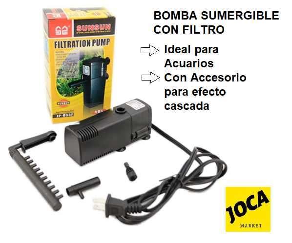 Bomba sumergible con filtro para peceras - 0