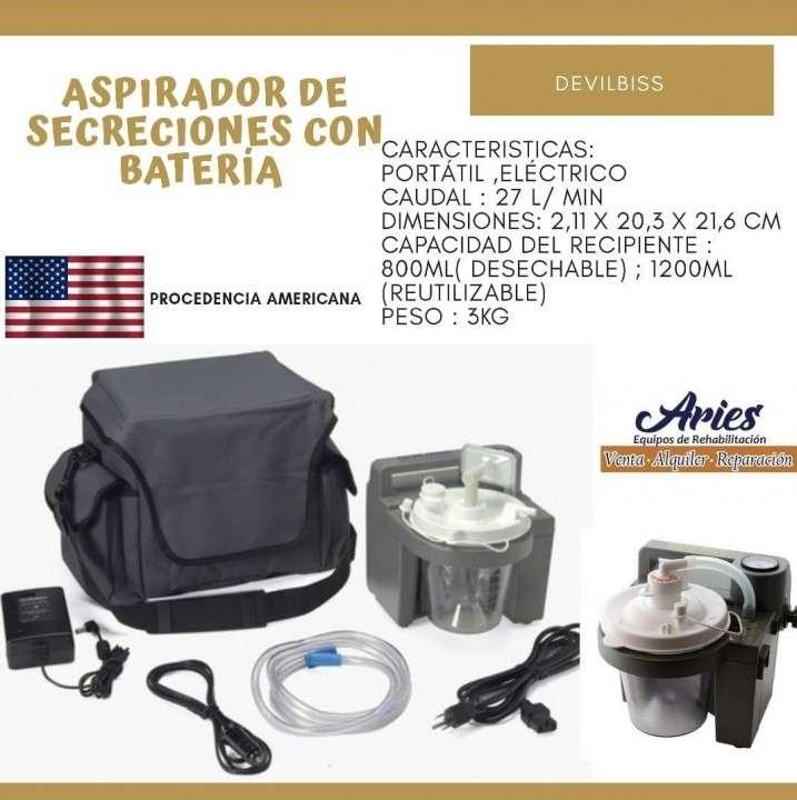 Aspirador de secreción con batería - 0