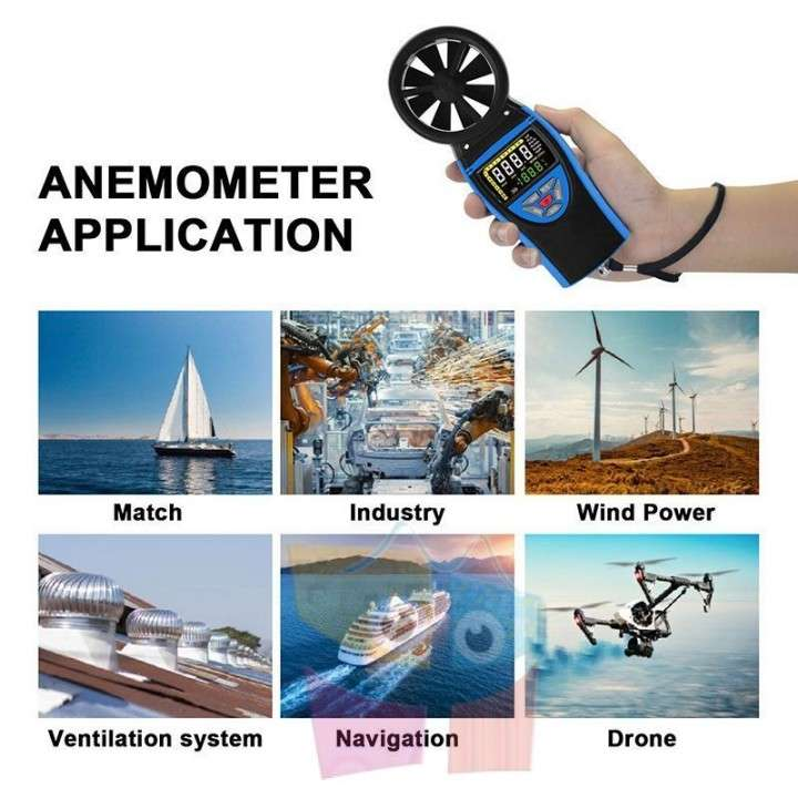 Termo Anemómetro Hold Peak by Pro Instruments HP-8805 - 5