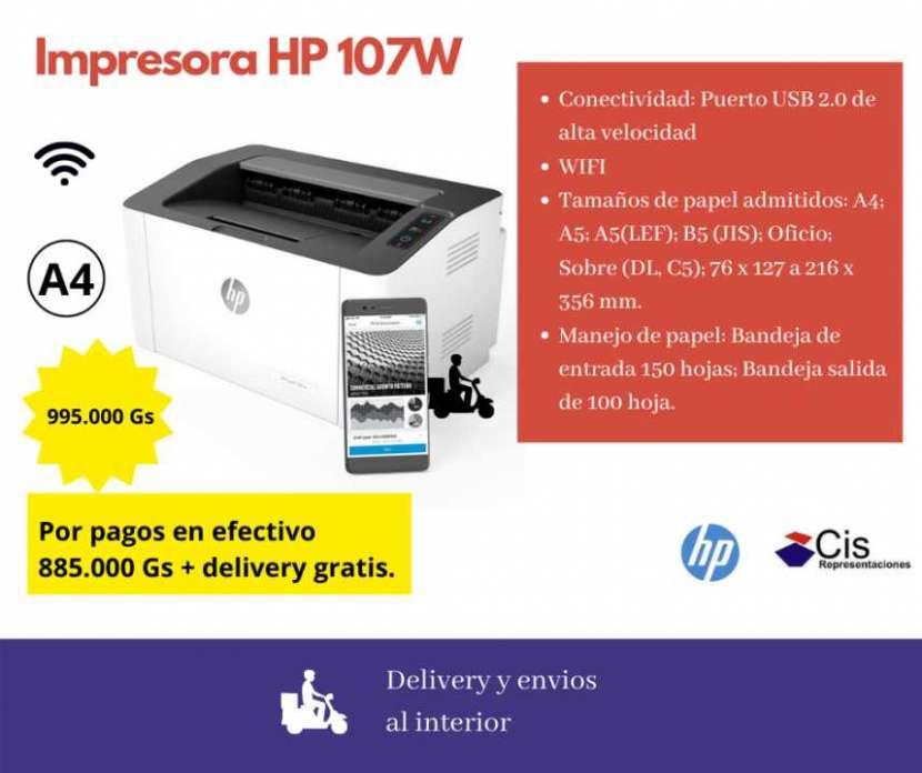 Impresora Laser monocromática HP 107W - 0