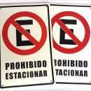 Cartel Prohibido Estacionar - 0