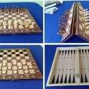 Juego magnético de ajedrez y damas y Backgammon - 0