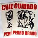 Cartel Perro Bravo - 0