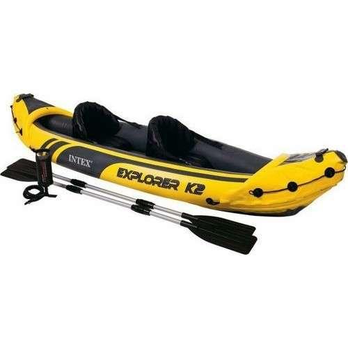 Kayak para 2 personas con remos Intex - 0