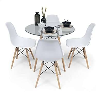 Go comedor tower 4 sillas mesa redonda - 2