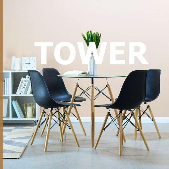 Go comedor tower 4 sillas mesa redonda - 0