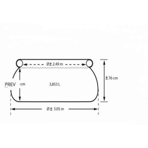 Piscina Intex 3.853 litros con filtro - 3