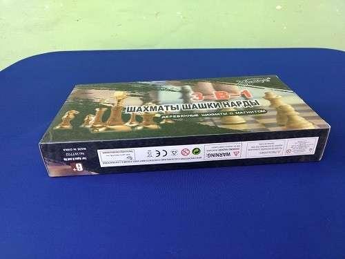 Juego magnético de ajedrez y damas y Backgammon - 1