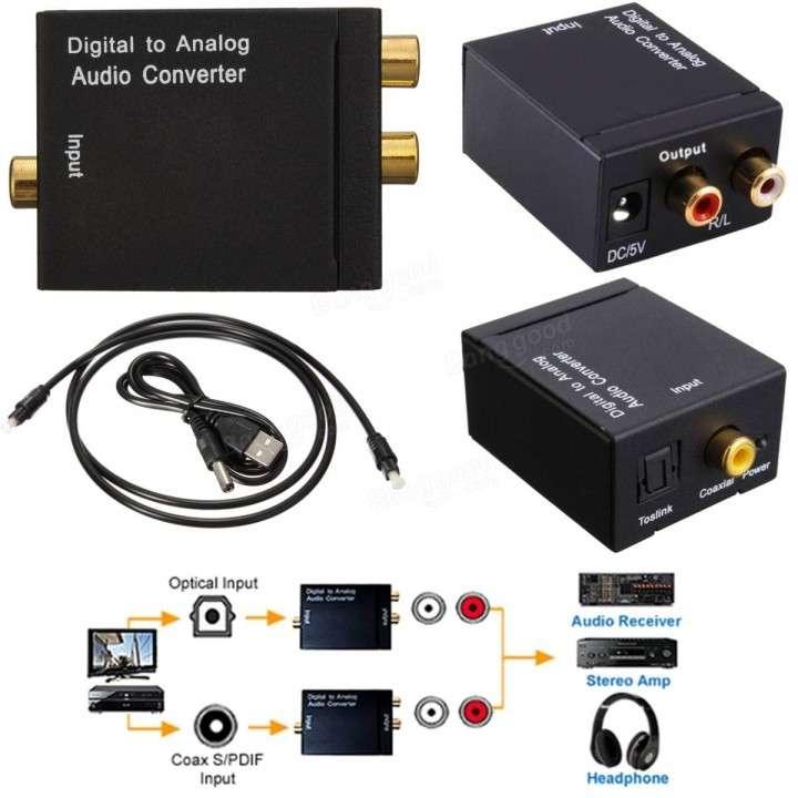 Convertidor Audio Digital Toslink Optico Coaxial a RCA - 1