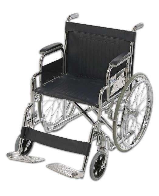 Silla de ruedas estandar reforzada - 0