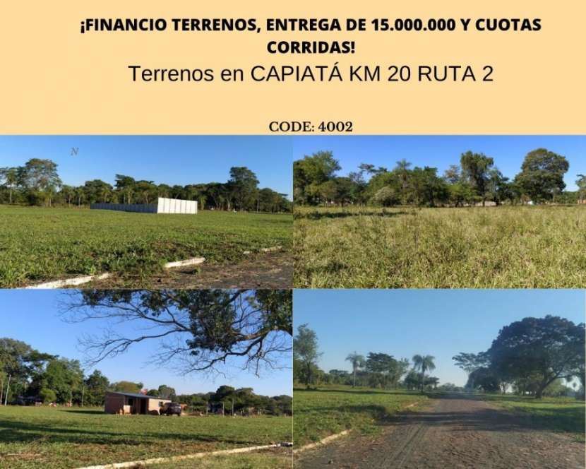 Terrenos de CAPIATÁ KM 20 RUTA 2 - 0