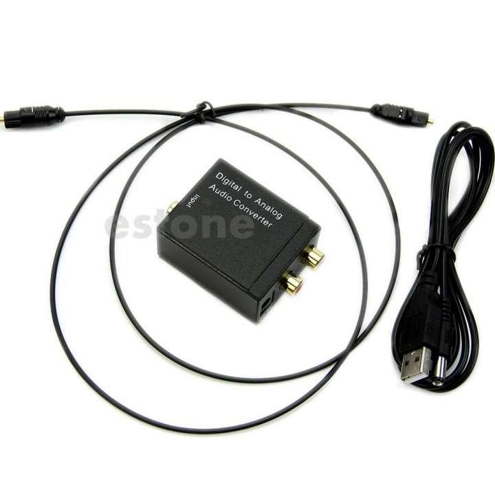 Convertidor Audio Digital Toslink Optico Coaxial a RCA - 2